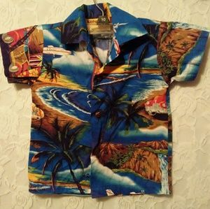 Aloha Mo'i Hawaiian Button Down Shirt Baby Sz 1